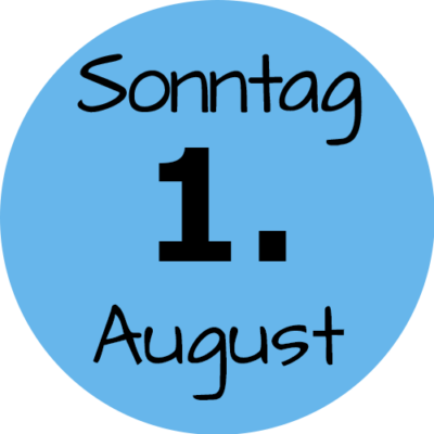 Sonntag 01. August 2021