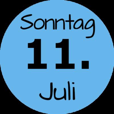 Sonntag 11. Juli 2021