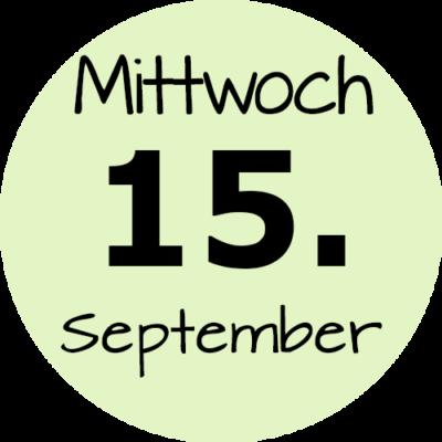 Mittwoch 15 September 2021