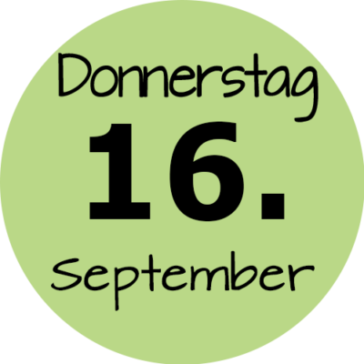 Donnerstag 16. September 2021