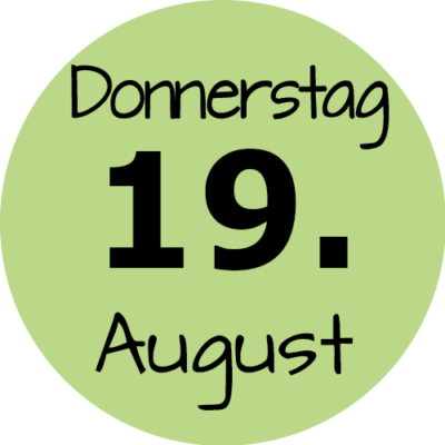 Donnerstag 19. August 2021