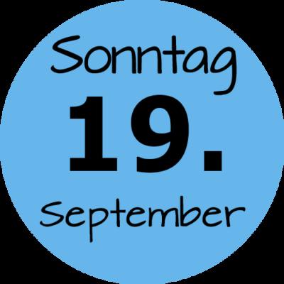 Sonntag 19. September 2021
