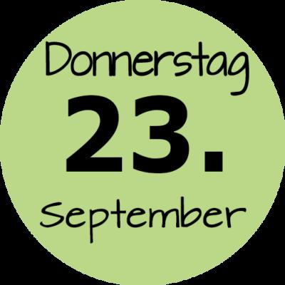 Donnerstag 23. September 2021