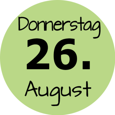 Donnerstag 26. August 2021