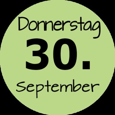 Donnerstag 30. September 2021