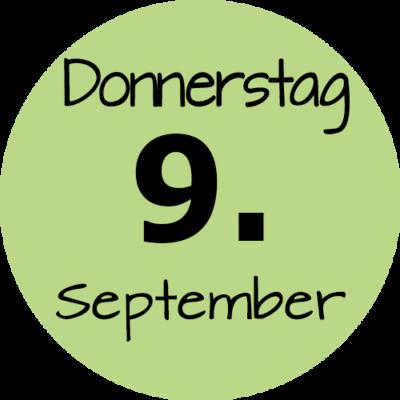 Donnerstag 9. September 2021